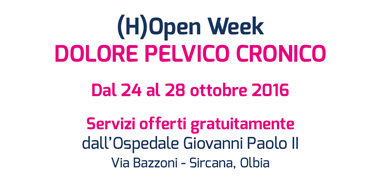 (H)Open Week all'ospedale Giovanni Paolo II di Olbia